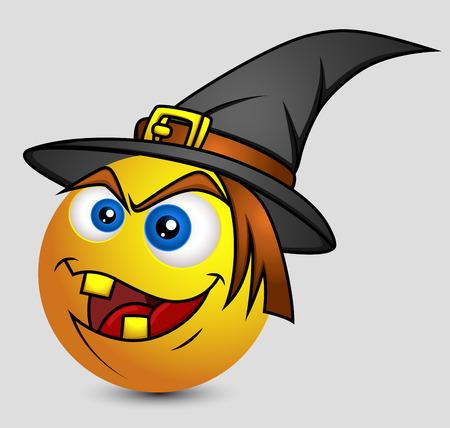 harridan: Halloween witch Emoji Smiley Emoticon Illustration