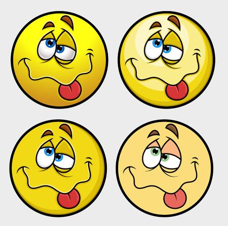 Beaten Emoji Smiley Emoticon Vetores