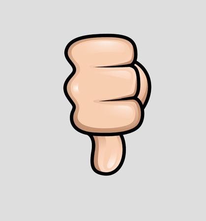 thumb down: Cartoon Thumb Down