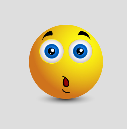 in amazement: Surprised Expression Cartoon Smiley