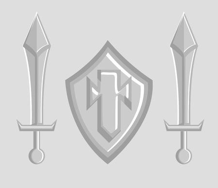 espadas medievales: Espadas medievales y Vector Shield