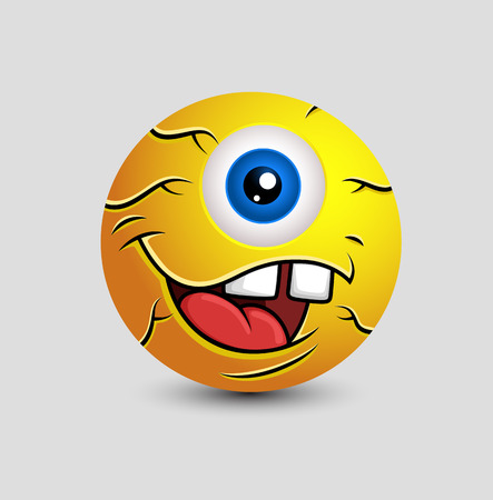 eye ball: Cartoon Alien Eye Ball Mascot
