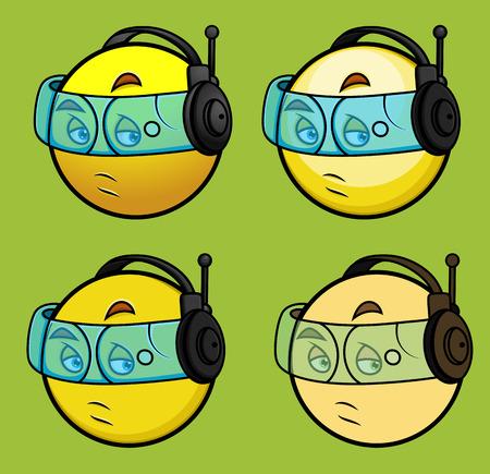 face guard: Hi Tech Spy Smiley Set
