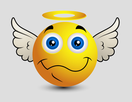 watcher: Happy Angel Emoji Smiley Emoticon