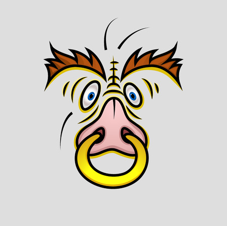 nosering: Wild Animal Face with Nosering
