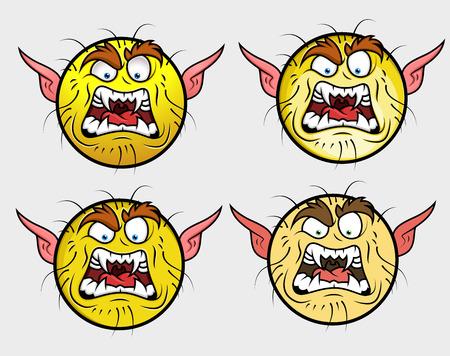 Verärgerte Kobold Emoji SmileyEmoticon Lizenzfrei Nutzbare ...