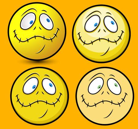 stitched: Lip Stitched Face Smiley Emoji Illustration