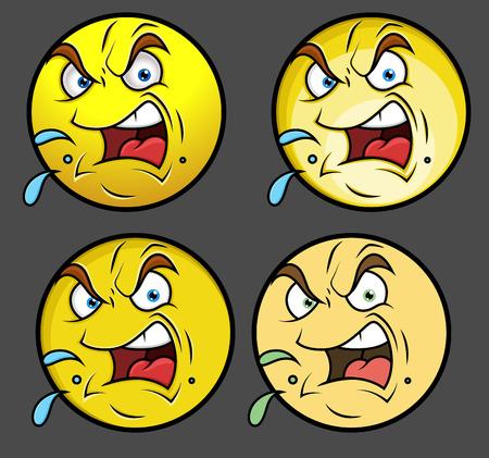 smiley: Aggressive Emoji Smiley Emoticon Illustration