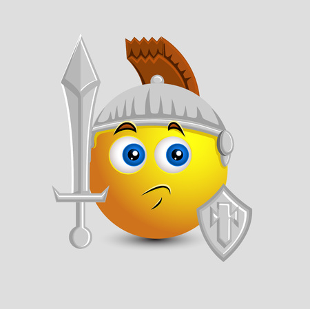watchman: Cute Knight Soldier Emoji Emoji Smiley Emoticon
