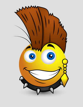 pop star: Punk Pop Star Emoji Smiley Emoticon