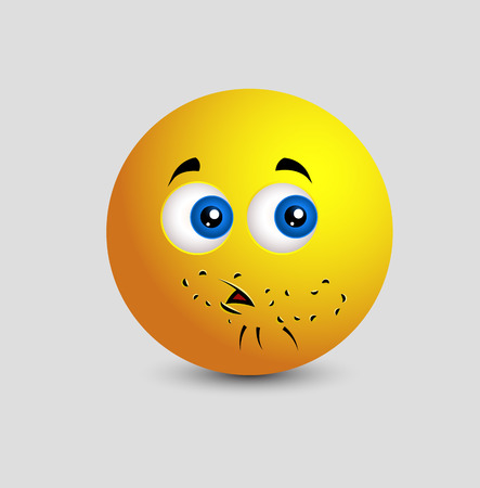 innocent: Little Beard Emoji Smiley Emoticon