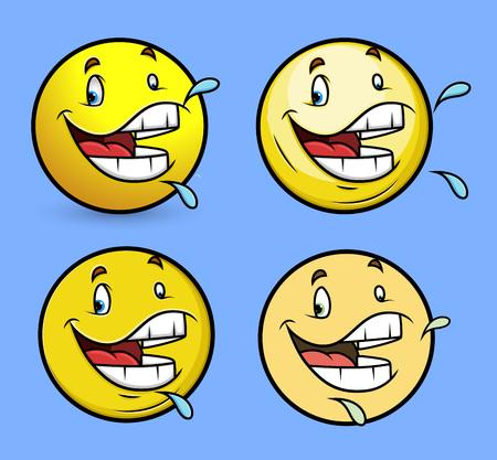 saliva: Spitting Saliva Smiley Set