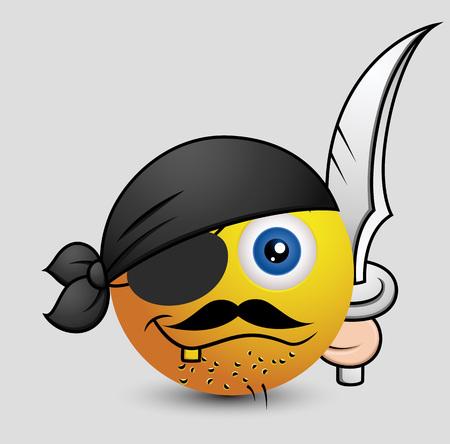 pirate captain: Pirate Captain Emoji Smiley Emoticon