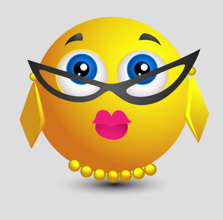 eyewear fashion: Teacher Look Emoji Smiley Lady