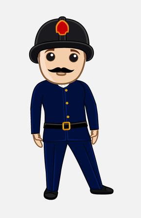 personality character: Cartoon Fireman Officer
