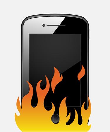 sleek: Hot and Sleek Smartphone Vector Illustration Illustration