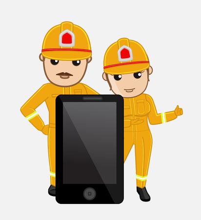 fire brigade: Call Us - Fire Brigade Emergency Concept
