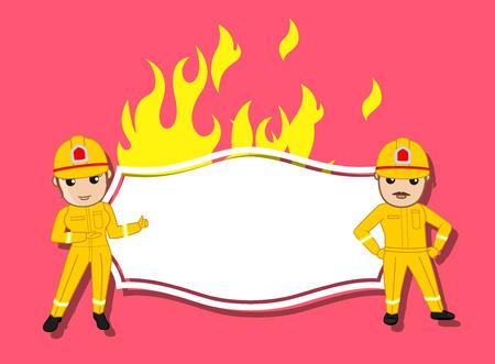 advertisement: Advertisement Board for Fire-Brigade
