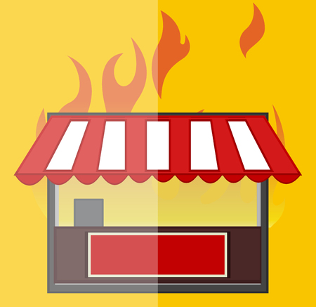 general store: The Burning Shop