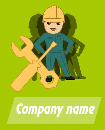 advertisement: Service Advertisement Template Vector Illustration