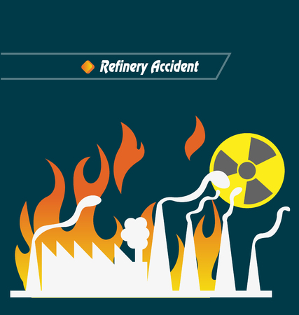 refinery: Refinery Accident Vector Illustration