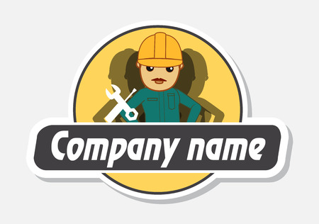 onsite: Service and Repairing - Business Mascot Logo Illustration