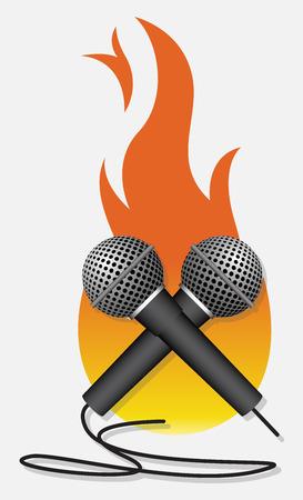 fire surround: Hot Anchoring Vector Illustration Illustration