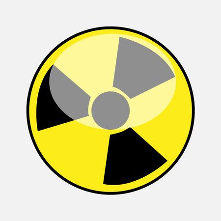dangerous construction: Radiation Symbol Vector Illustration