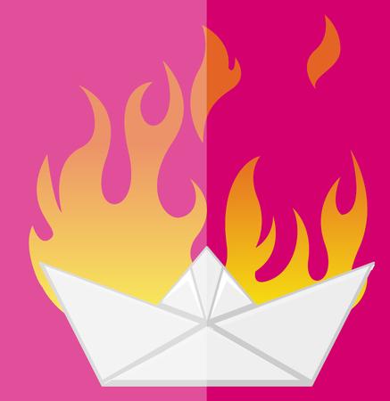 burning paper: The Burning Ship