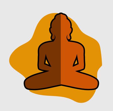 yog: Buddha Vector Shape