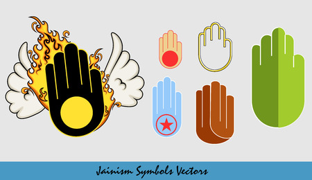 jainism: Various Jainism Vector Symbols