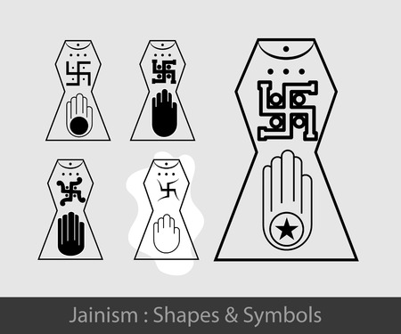 jain: Jainism Symbol Illustration