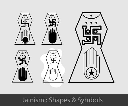 ahimsa: Jainism Symbol Illustration