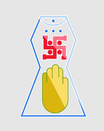 ahimsa: Shiny Jainism Symbol Illustration