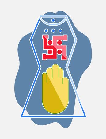 ahimsa: Jainism Vector Symbol Design