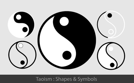 taoism: Taoism Symbols Illustration