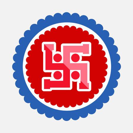 jainism: Swastika Symbol Vector Icon