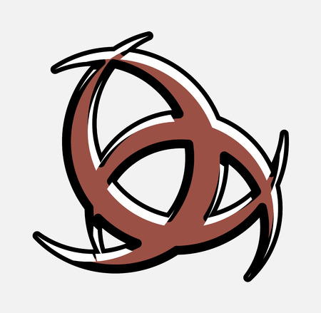 odin: Retro Horn of Odin Symbol Design