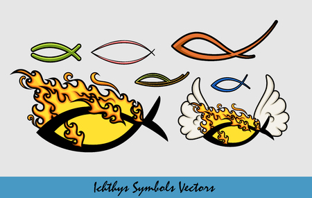 ichthys: Collection of Ichthys Symbols