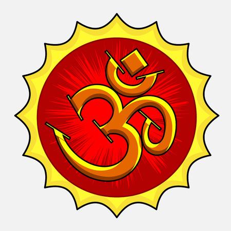 om symbol: Retro Om Symbol