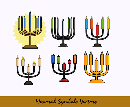 Menorah Symbols Set Illustration