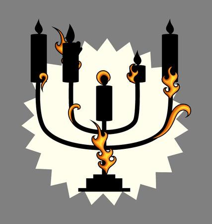 menorah: Menorah Vector Design