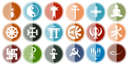 ichthys: Glossy Icon Set of Religious Symbols