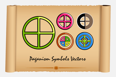 neopaganism: Set of Neo-Paganism Symbols
