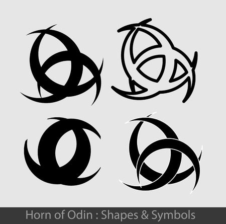 odin: Horn of Odin Symbols Illustration