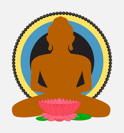 buddha lotus: Buddha Shape with Lotus