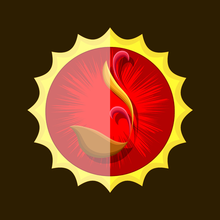 flaming: Flaming Chalice Vector Symbol