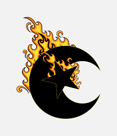 burning: Burning Moon Star Shape