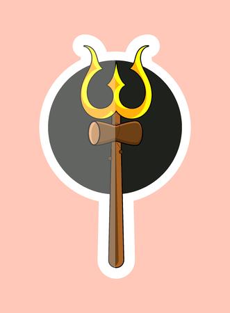 shankar: Sticker of Trident of Shiva Symbol