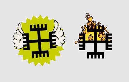 neopaganism: Neo-Paganism Symbol Vector Designs